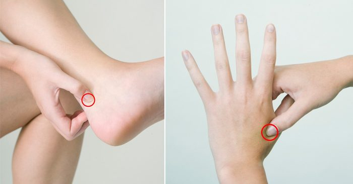 Cách massage bấm huyệt trị đau gót chân